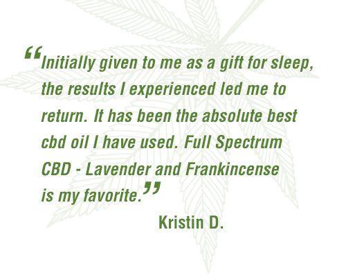 Full Spectrum CBD - Lavender and Frankincense * New Lower Price!